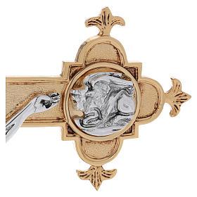 Croce astile ottone fuso 54x35 cm s8