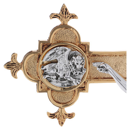 Croce astile ottone fuso 54x35 cm 7