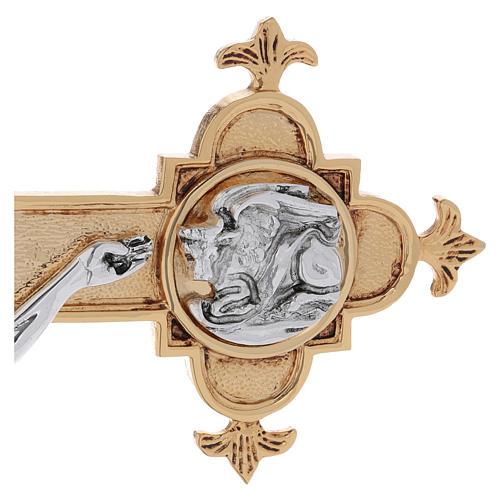 Croce astile ottone fuso 54x35 cm 8