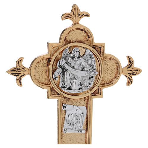 Croce astile ottone fuso 54x35 cm 9