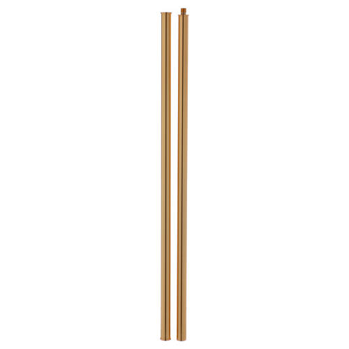 Croce astile ottone fuso 54x35 cm 10