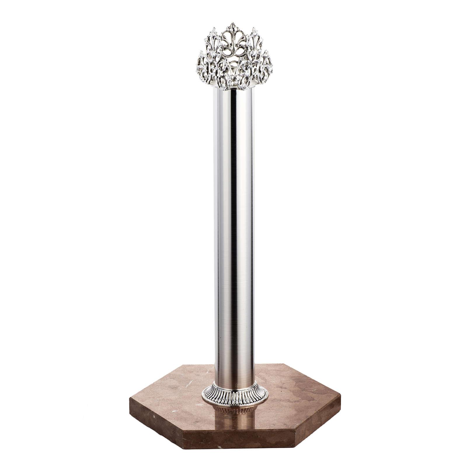 Base per croce astile marmo rosso di Verona 4