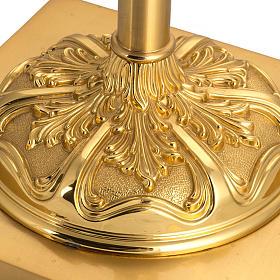 Base portacroce astile in ottone mod. barocco s2