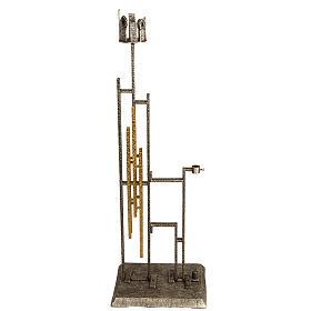 Base porta croce astile e portacerone in bronzo s1