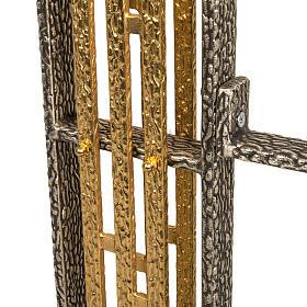 Base porta croce astile e portacerone in bronzo s3