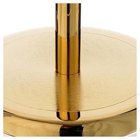 Suporte cruz procissão latão dourado brilhante s2