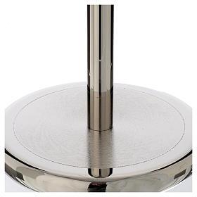 Base per croce astile ottone nikelato lucido s2