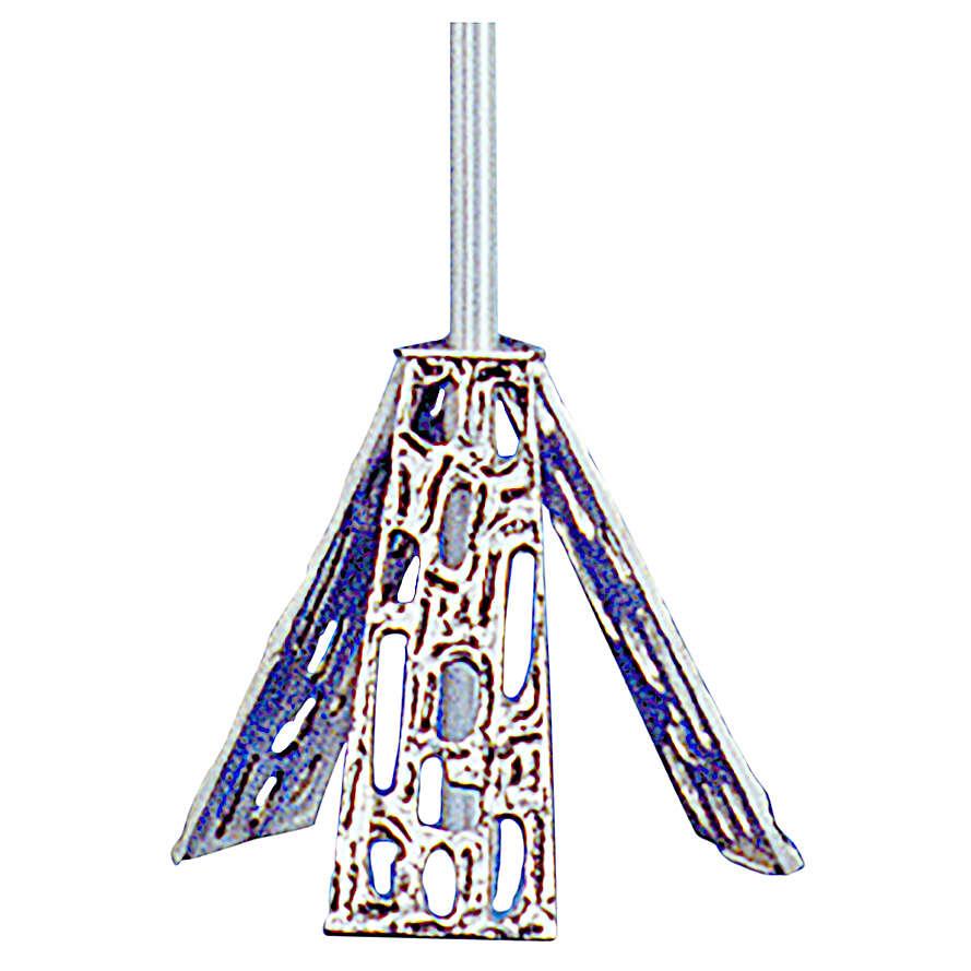 Base per croce astile in ottone fuso argento 4