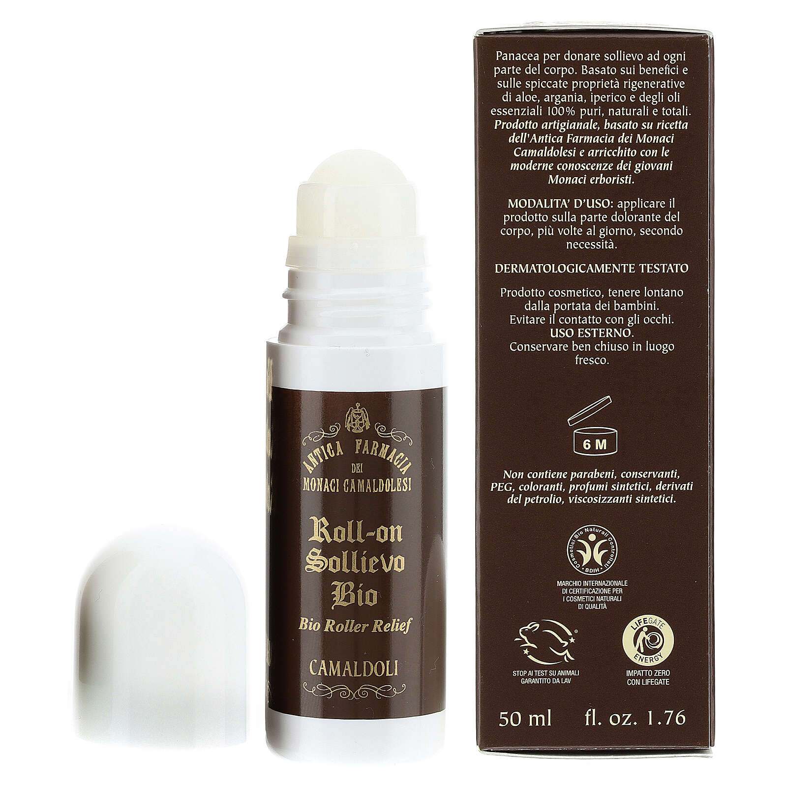 Roll-on sollievo Bio BDIH 50 ml Camaldoli 4
