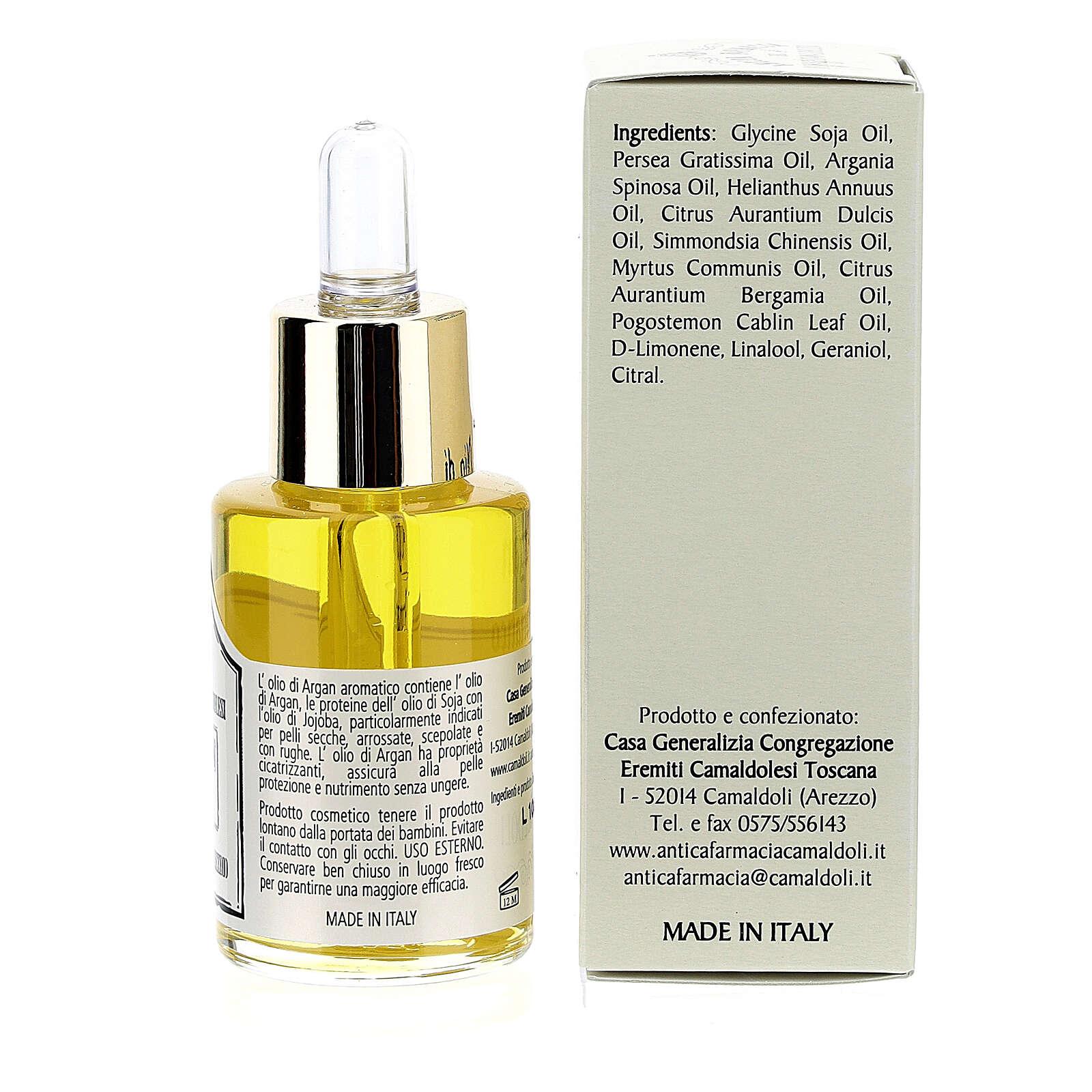 Aromatic Argan oil, skin oil, Camaldoli 4