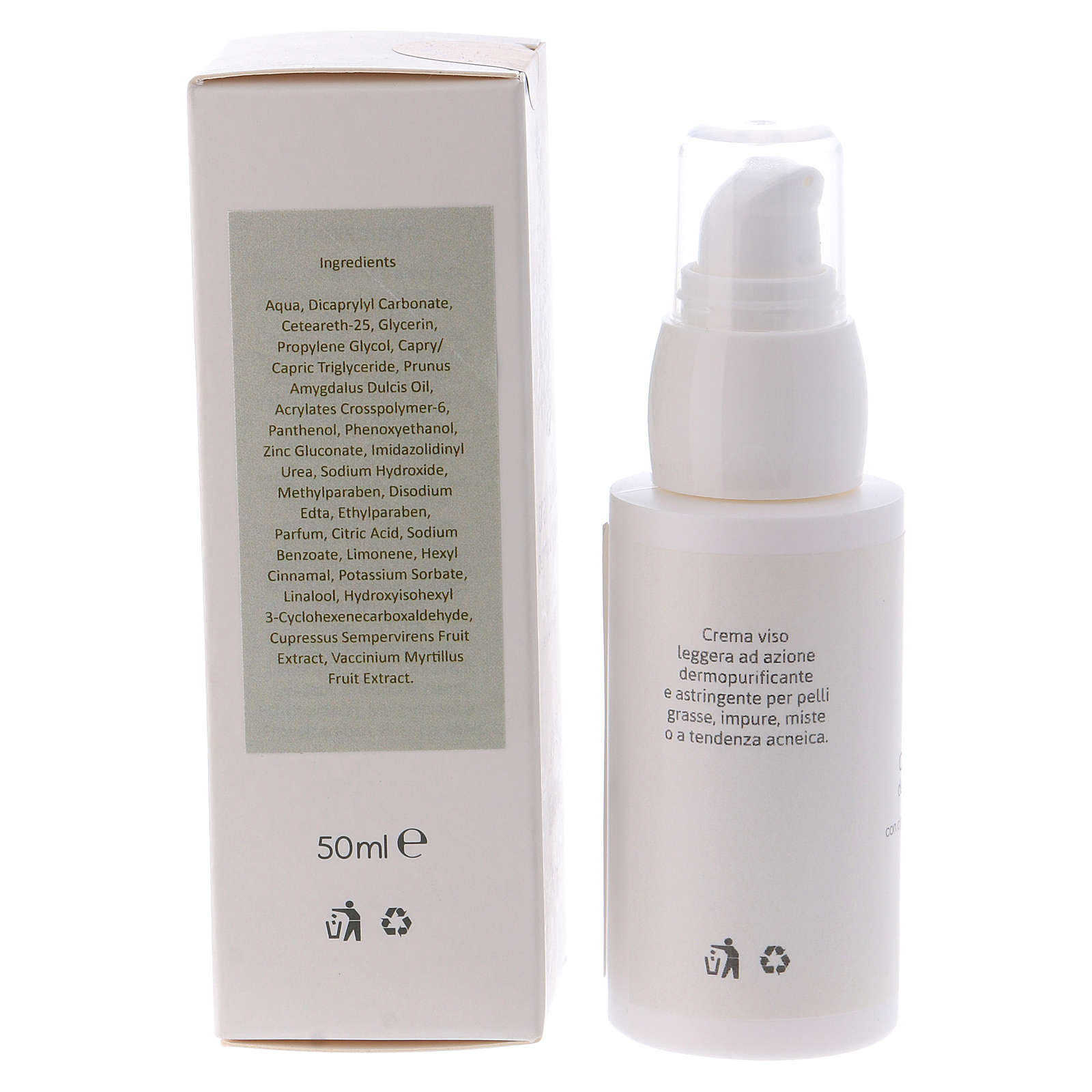 Skin purifying face cream 50ml  Valserena 4