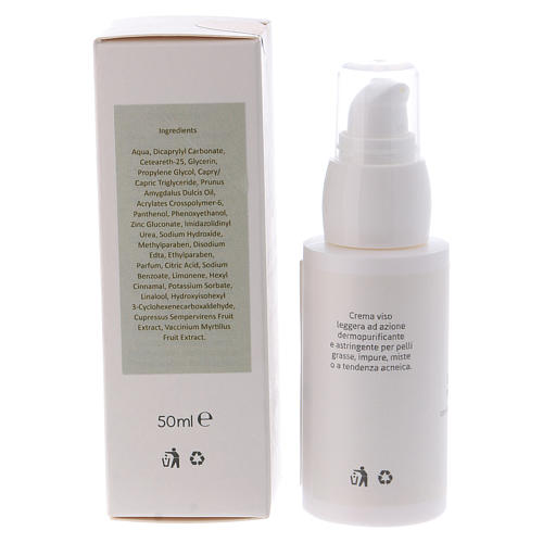 Skin purifying face cream 50ml  Valserena 2