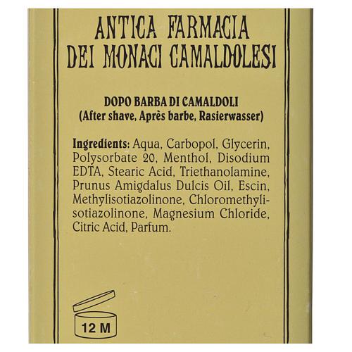 Płyn po goleniu bezalkoholowy aloesowy Camaldoli 100 ml 3