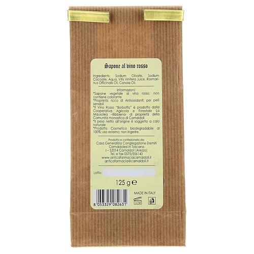 Natural Red Wine Soap - Antioxidant 125 gr Camaldoli 4