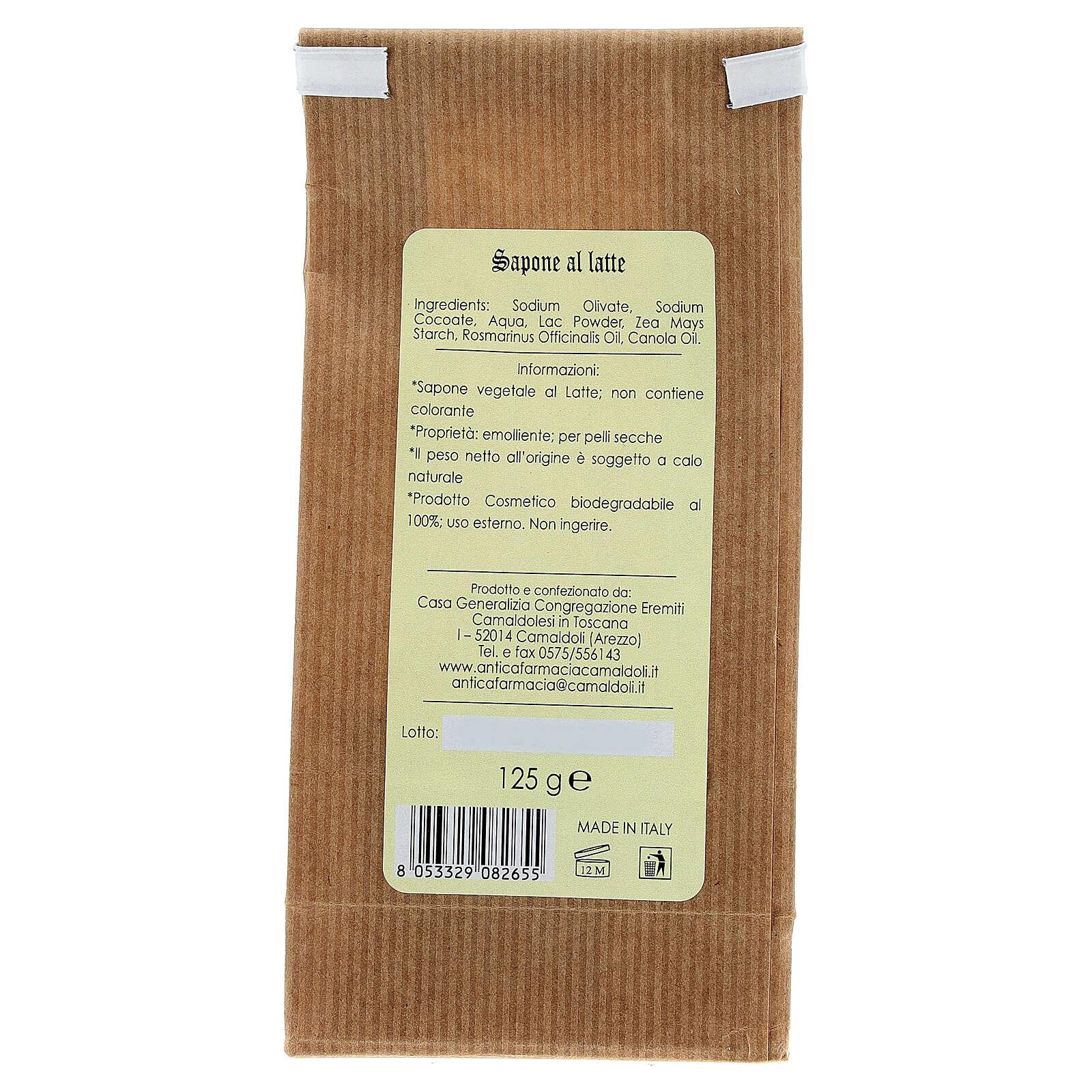 Sapone Naturale al Latte 125 gr Camaldoli 4