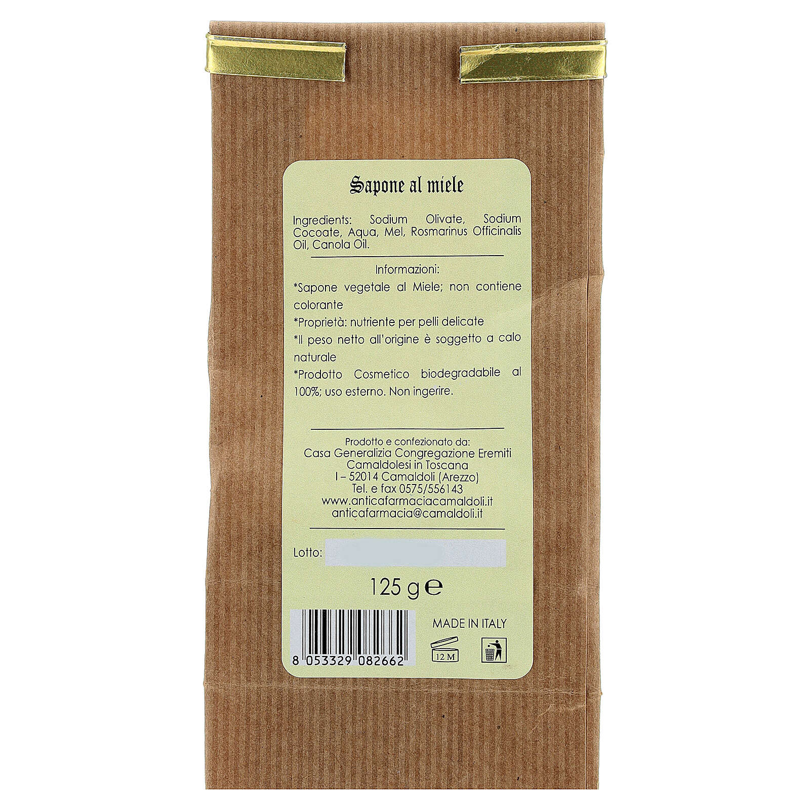 Sapone Naturale al Miele 125 gr Camaldoli 4