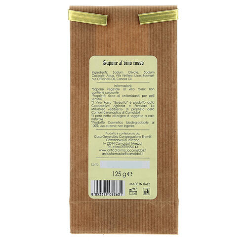Natural Soap with Honey and Beeswax - Delicate 125 gr Camaldoli 8