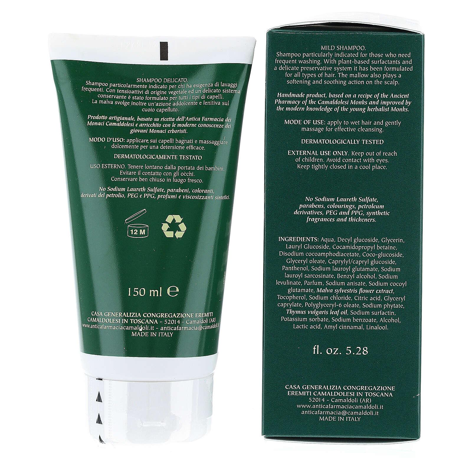 Shampoo Lavaggi Frequenti Naturale 150 ml Camaldoli 4