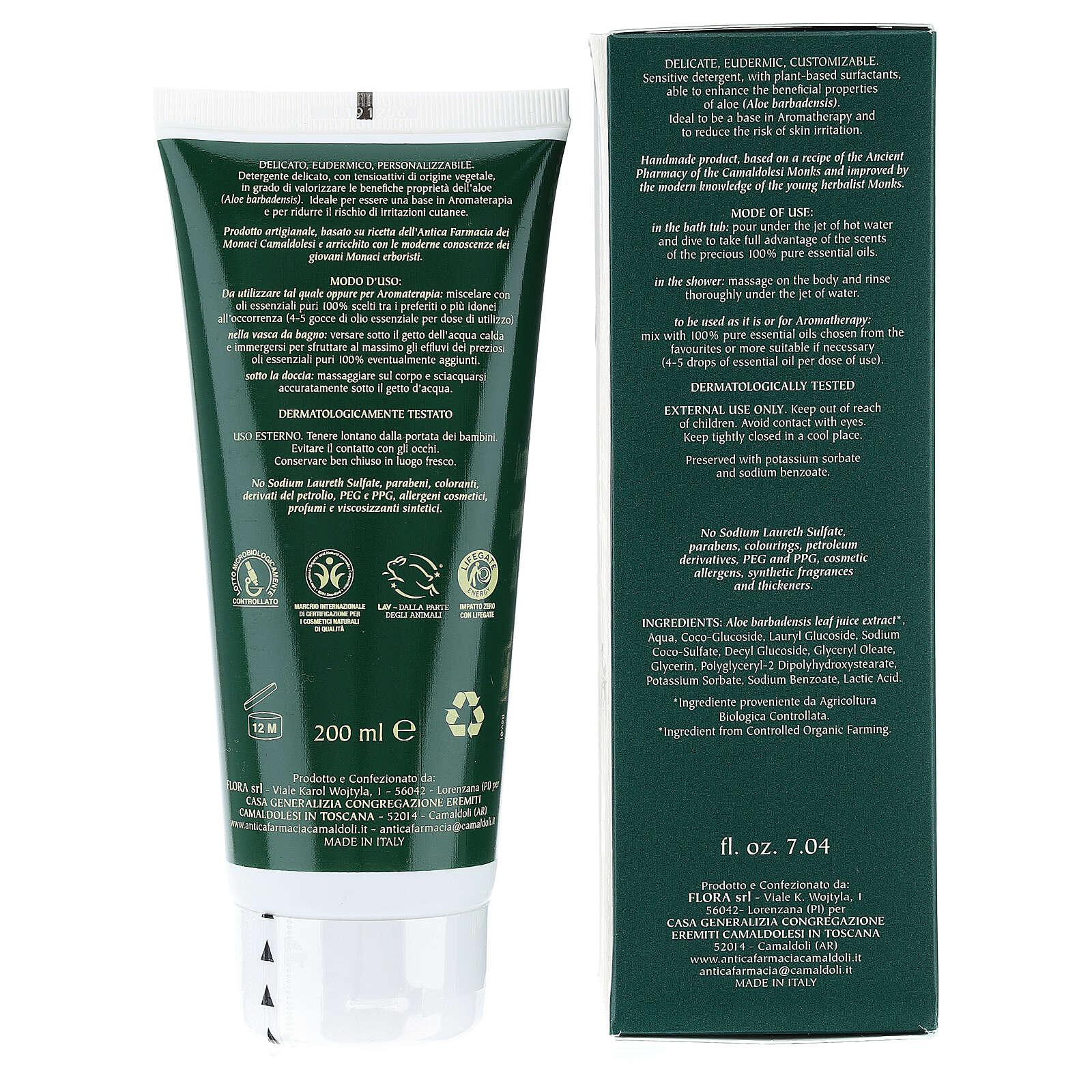 Camaldoli BDIH Organic Neutral Bath Foam 200 ml 4