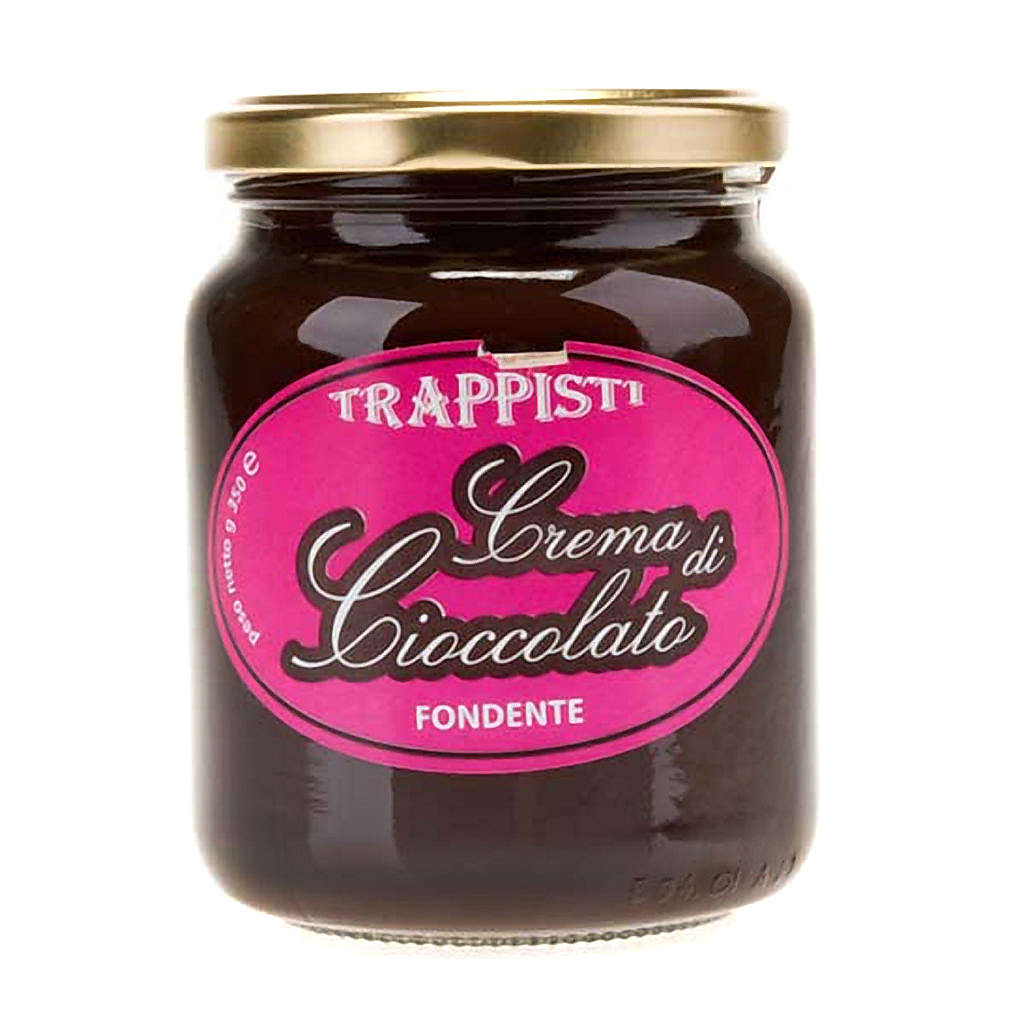 Crème de chocolat noire extra 350 gr Trappisti Frattocchie 3