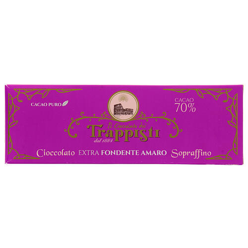 Chocolat noire extra amère 150 gr Trappisti Frattocchie 1
