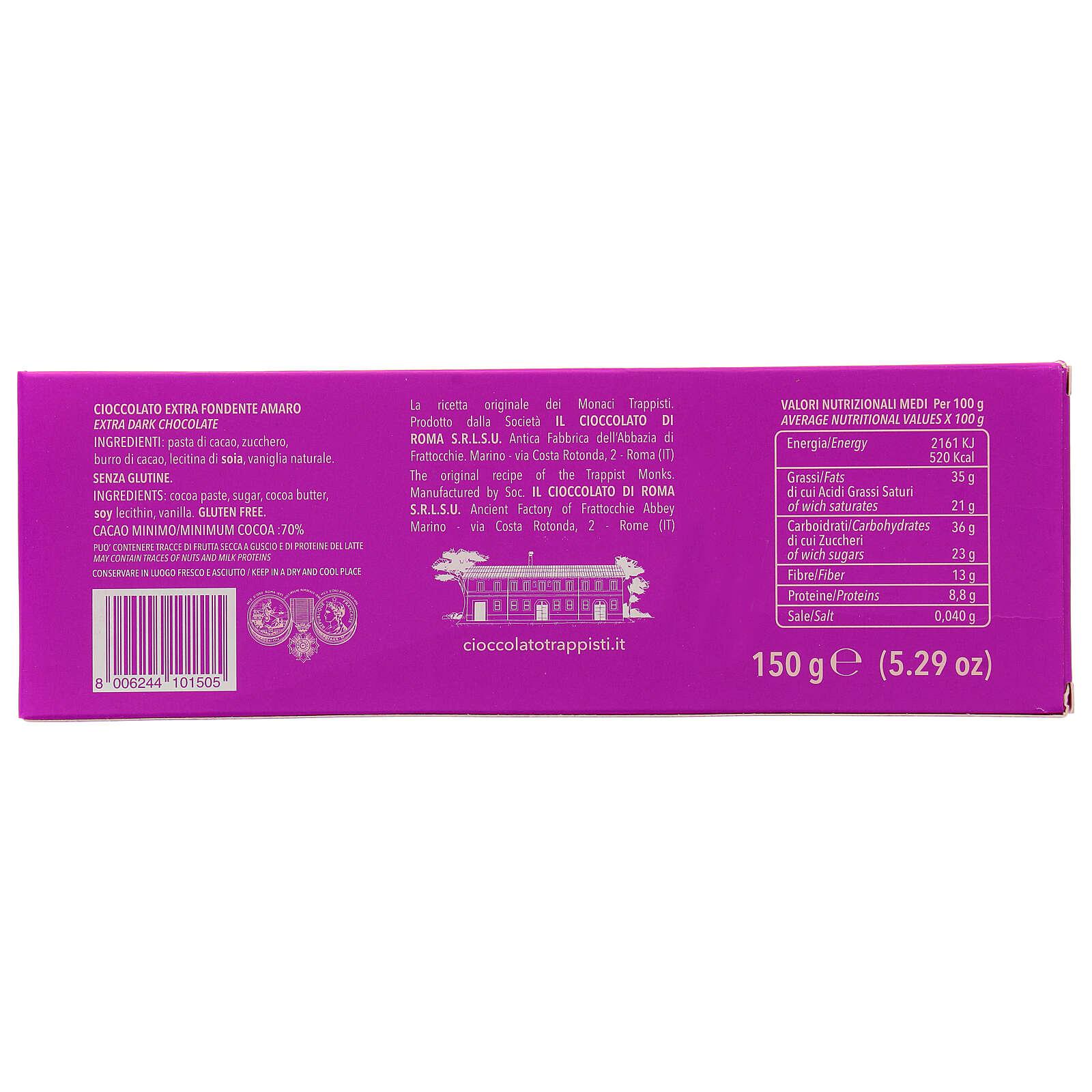 Czekolada extra gorzka 70% 150g Trapiści Frattocchie 3