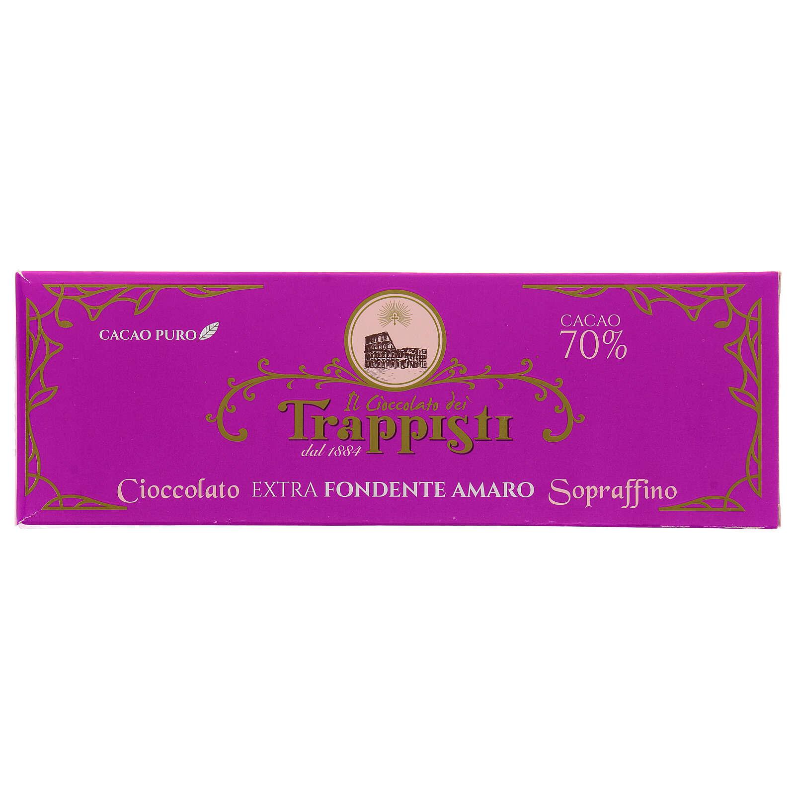 Chocolate preto extra amargo 150 g Monges trapistas Frattocchie 3