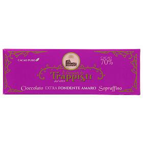 Chocolate preto extra amargo 150 g Monges trapistas Frattocchie s1