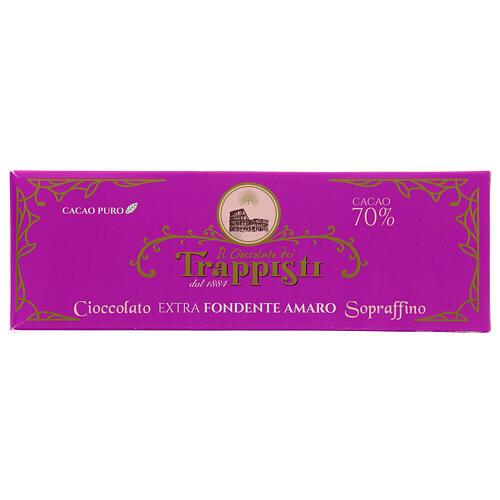 Chocolate preto extra amargo 150 g Monges trapistas Frattocchie 1