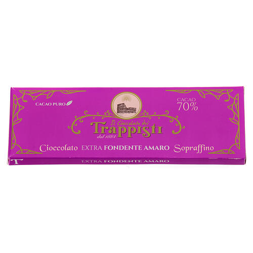 Chocolate preto extra amargo 150 g Monges trapistas Frattocchie 2