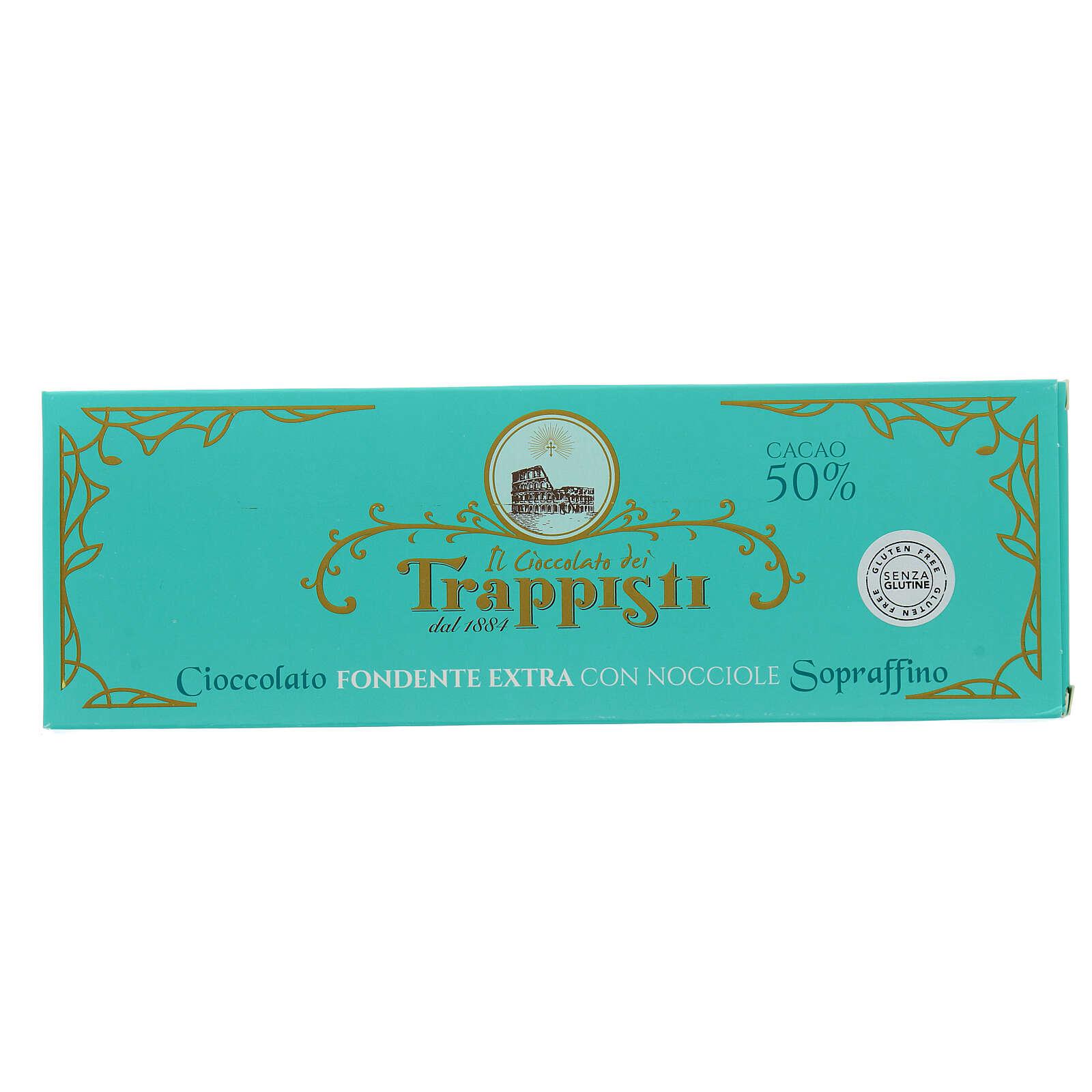 Chocolate amargo con avellanas 150 gr. Trapense 3