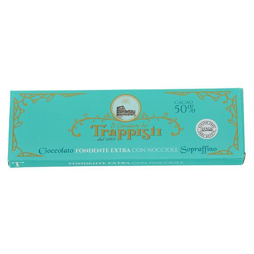 Chocolate amargo con avellanas 150 gr. Trapense 2