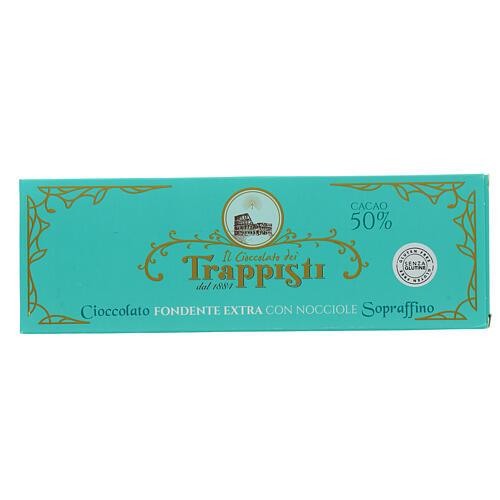 Cioccolato fondente extra nocciole 150 g Trappisti Frattocchie 1