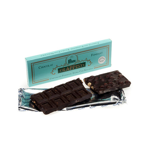 Extra dark chocolate with nuts 150gr- Frattocchie Trappist Monas 1