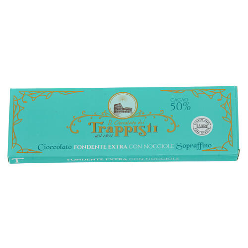 Extra dark chocolate with nuts 150gr- Frattocchie Trappist Monas 2