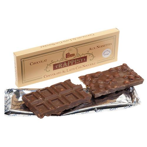 Chocolat au lait et noisettes, 150 gr Trappisti Frattocchie 1