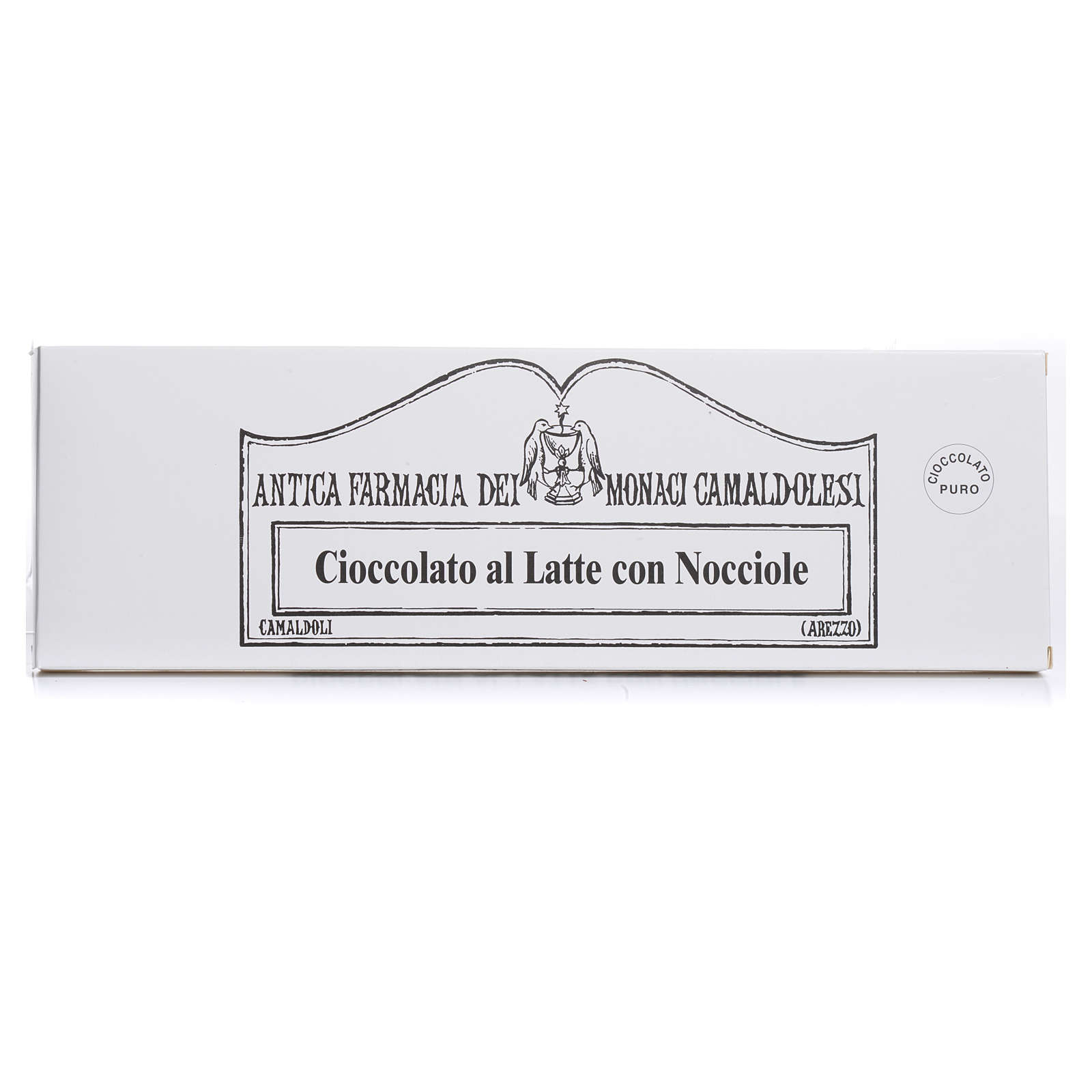 Cioccolato al latte con nocciole 250 gr Camaldoli 3