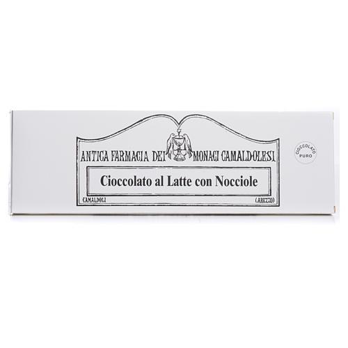 Cioccolato al latte con nocciole 250 gr Camaldoli 1