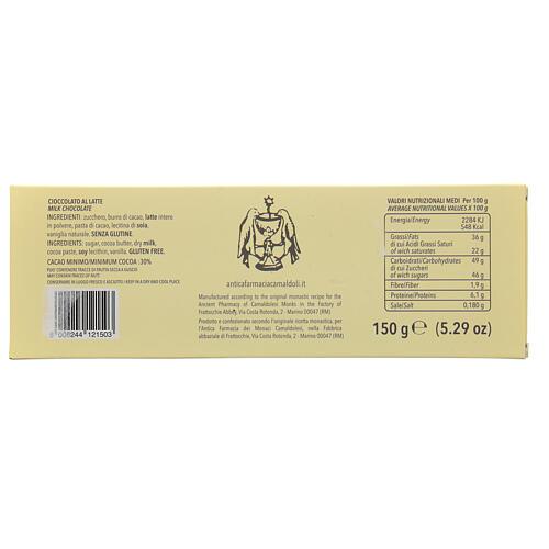 Chocolate ao leite 150 gr Camaldoli 3