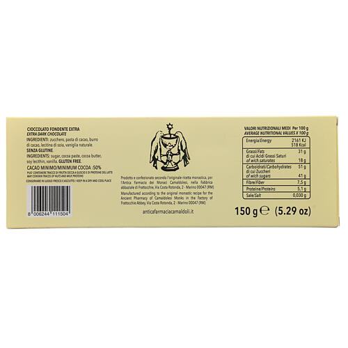 Chocolate amargo 150 gr Camaldoli 3