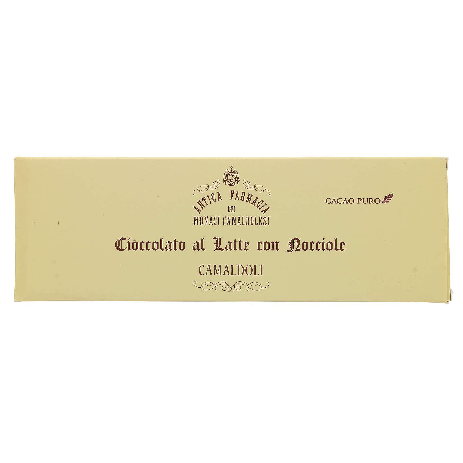 Cioccolato al latte con nocciole 150 gr Camaldoli 3
