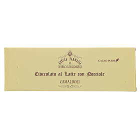 Cioccolato al latte con nocciole 150 gr Camaldoli s1