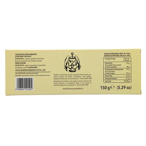 Chocolate preto extra 70% 150 g Camaldoli 3