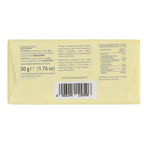 Chocolate de leite 50 g Camaldoli 2