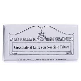 Chocolate trapense: Chocolate con leche y avellanas en piezas pequeñas 50 gr Camaldoli