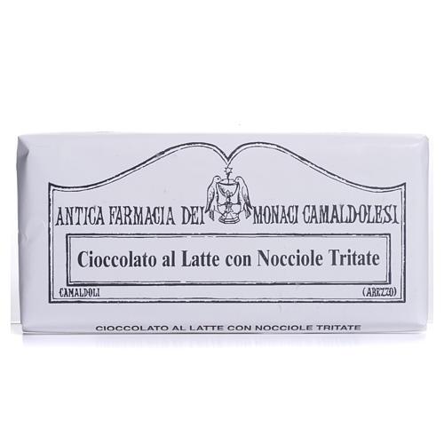 Cioccolato al latte con nocciole tritate 50 gr Camaldoli 1