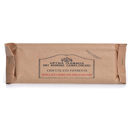 Cioccolato fondente senza zuccheri agg 100 gr Camaldoli 1