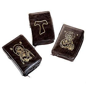 Funda Biblia Jerusalén piel marrón oro 2009 s1