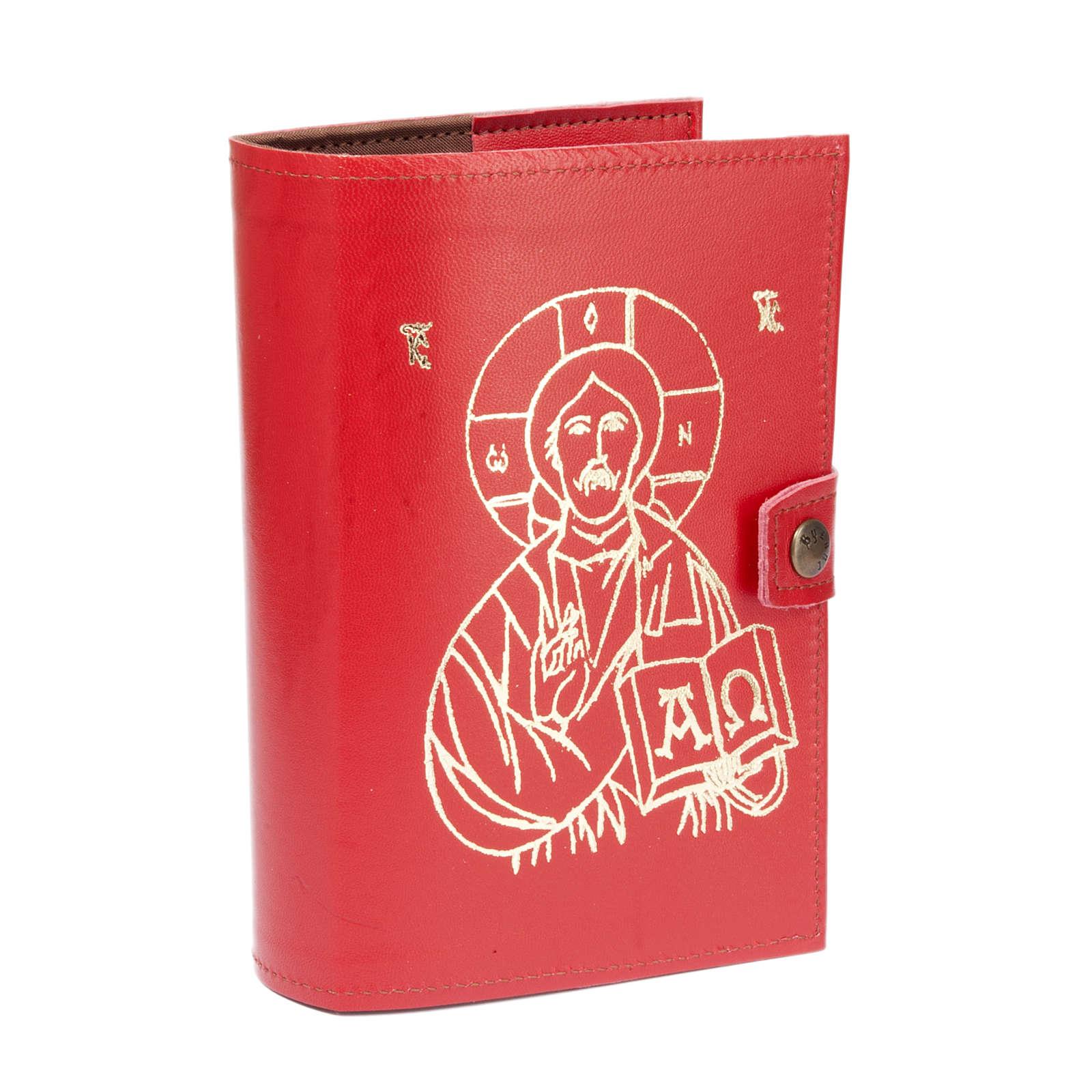 Copertina 4 vol.  pelle rossa immagine Gesù 4