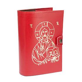 Copertina 4 vol.  pelle rossa immagine Gesù s2